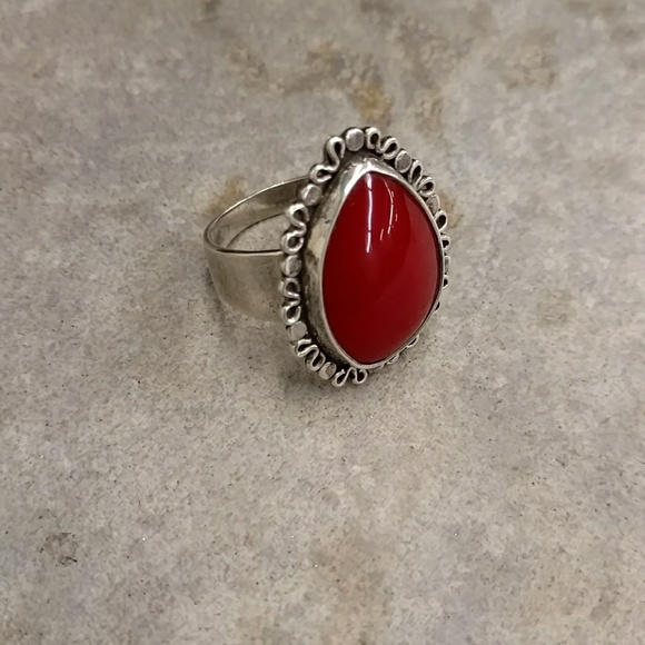 37a225931 unknown Jewelry | Sterling 925 Carnelian Or Red Coral Ring | Poshmark